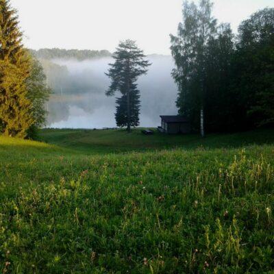 Dzērves ezera namiņš
